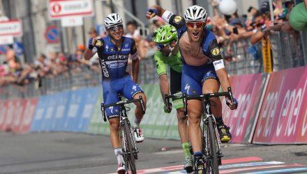 Giro d'Italia 2016 - 99a Edizione - 18a tappa Muggio' - Pinerolo 244 km - 26/05/2016 - Matteo Trentin (Etixx - Quick Step) - foto Ilario Biondi/BettiniPhoto©2016