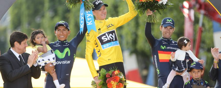 Tour de France 2015 - 102a Edizione - 21a tappa Sevres - Paris Champs Elysees 109.5 km - 26/07/2015 - Christopher Froome (Team Sky) - Nairo Quintana - Alejandro Valverde (Movistar) - foto Ilario Biondi/BettiniPhoto©2015