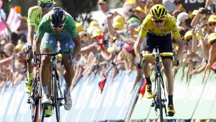 Tour de France 2016 - 103a Edizione - 11a tappa Carcassonne - Montpellier 162.5 km - 13/07/2016 - Peter Sagan (Tinkoff) - Christopher Froome (Team Sky) - Maciej Bodnar (Tinkoff) - foto Luca Bettini/BettiniPhoto©2016
