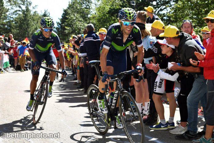 Tour de France 2016 - 103a Edizione - 12a tappa Montpellier - Mont Ventoux 184 km - 14/07/2016 - Alejandro Valverde - Nairo Quintana (Movistar) - foto Graham Watson/BettiniPhoto©2016