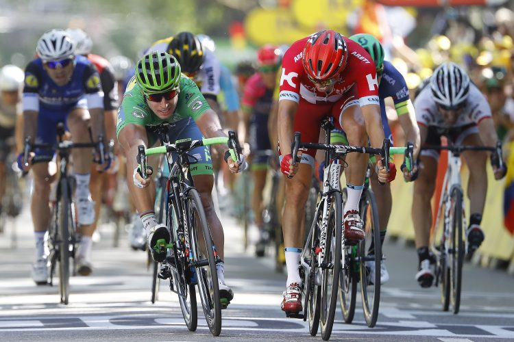 Tour de France 2016 - 103a Edizione - 16a tappa Moirans en Montagne - Berne 209 km - 18/07/2016 - Peter Sagan (Tinkoff) - Alexander Kristoff (Katusha) - foto Luca Bettini/BettiniPhoto©2016