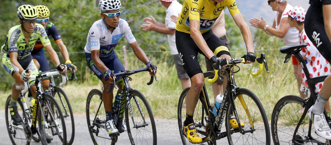 Tour de France 2015 - 102a Edizione - 19a tappa Saint Jean de Maurienne - La Toussuire 138 km - 24/07/2015 - Christopher Froome (Team Sky) - Nairo Quintana (Movistar) - Alberto Contador (Tinkoff - Saxo) - Alejandro Valverde (Movistar) - foto Luca Bettini/BettiniPhoto©2015
