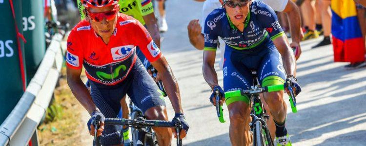 Vuelta Spagna 2016 - 17a tappa Castellon - Mas de la Costa 177.5 km - 07/09/2016 - Nairo Quintana (Movistar) - Johan Esteban Chaves (Orica - BikeExchange) - foto Graham Watson/BettiniPhoto©2016