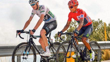 Vuelta Spagna 2016 - 20a tappa Benidorm - Alto de Aitana 193.2 km - 10/09/2016 - Christopher Froome (Team Sky) - Nairo Quintana (Movistar) - foto Graham Watson/BettiniPhoto©2016