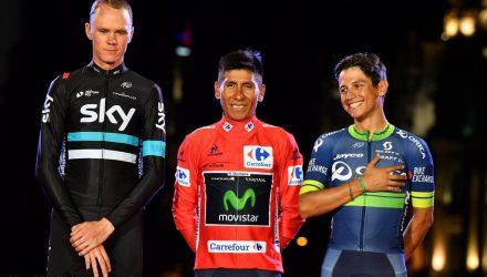 Vuelta Spagna 2016 - 21a tappa Las Rozas - Madrid 104 km - 11/09/2016 - Christopher Froome (Team Sky) - Nairo Quintana (Movistar) - Johan Esteban Chaves (Orica GreenEDGE) - foto Graham Watson/BettiniPhoto©2016