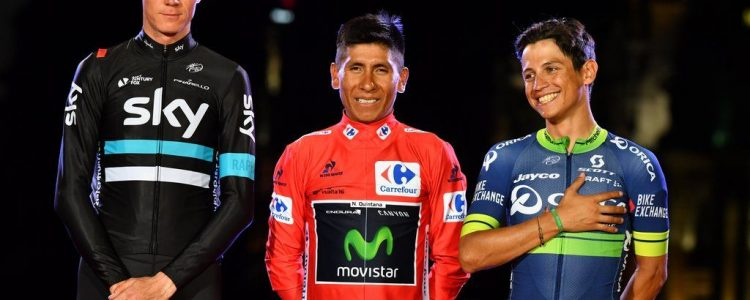 Vuelta Spagna 2016 - 21a tappa Las Rozas - Madrid 104 km - 11/09/2016 - Christopher Froome (Team Sky) - Nairo Quintana (Movistar) - Johan Esteban Chaves (Orica GreenEDGE) - foto Graham Watson/BettiniPhoto©2016