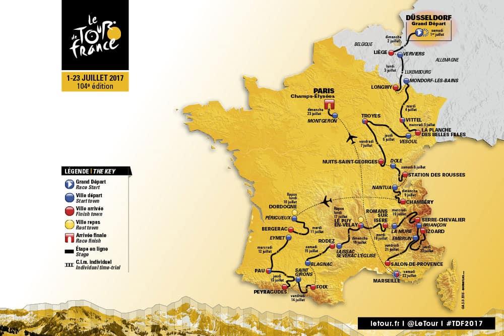 2017 Tour De France Route Announced Road Bike Action