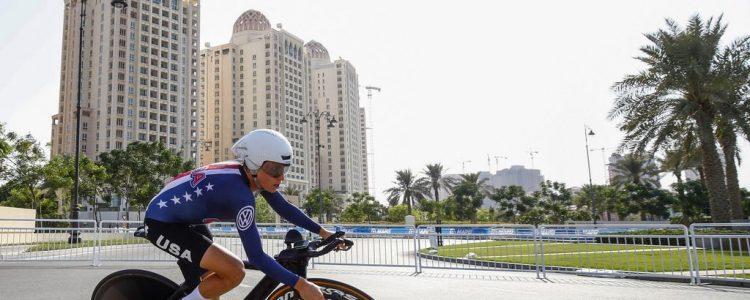 Campionati del Mondo Doha 2016 - Road World Championship 2016 - Cronometro Donne Elite 28,9 km - 11/10/2016 - Amber Neben (USA) - foto Luca Bettini/BettiniPhoto©2016