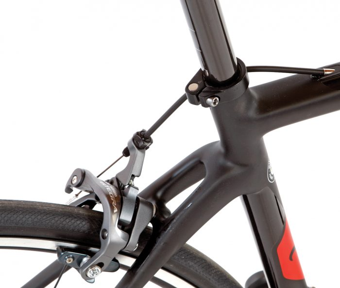 Vertical compliance is a huge hurdle for road bikes, and the GTR delivers with a smooth ride thanks to the flattened seatstays.
