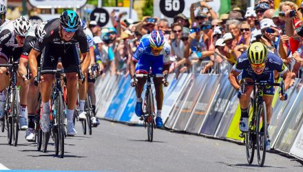 Tour Down Under stage 1 Sprint Finish