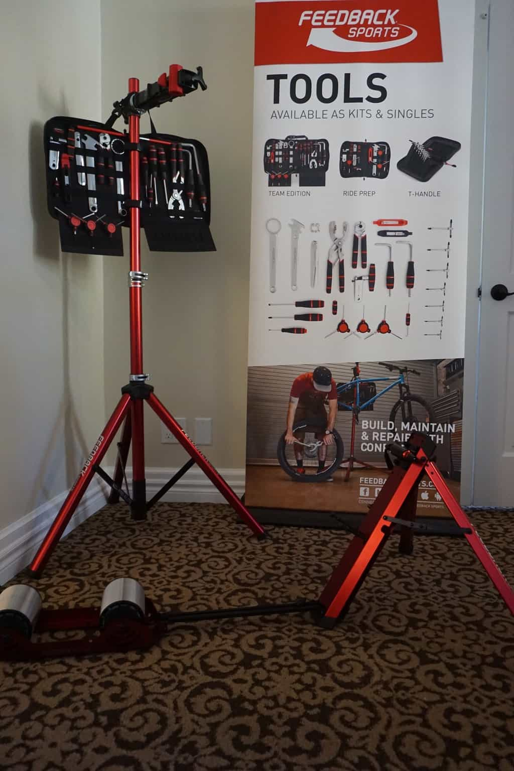 FeedBack Sports had their new line of tools on display that work well with their mobile bike stands. Their trainer was also a favorite of ours as well with its easy functionality.
