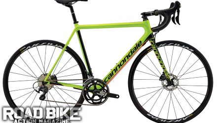 CANNONDALE superSIx Thankfully, plenty of bike brands have begun to move away from the black  bike look and are moving to brighter  colors that bring improved visibility. Cannondale's $2499 SuperSix Evo Disc is  a good example.