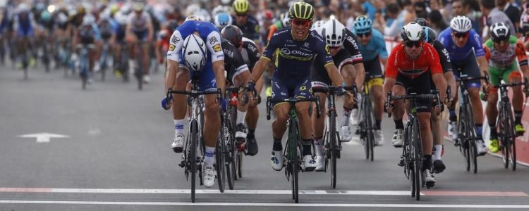Abu Dhabi Tour 2017 - 2nd stage Abu Dhabi - Abu Dhabi 53 km - 24/02/2017 - Marcel Kittel (GER - QuickStep - Floors) - Caleb Ewan (AUS - ORICA - Scott) - Mark Cavendish (GBR - Dimension Data) - Roberto Bettini/BettiniPhoto©2017
