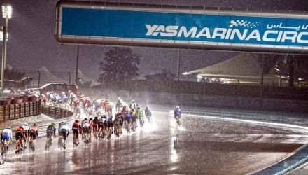 A wet final circuit race held under the lights wrapped up the Abu Dhabi Tour.