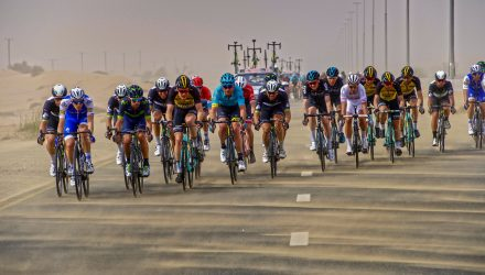 The cross winds came out in full force during stage 3.