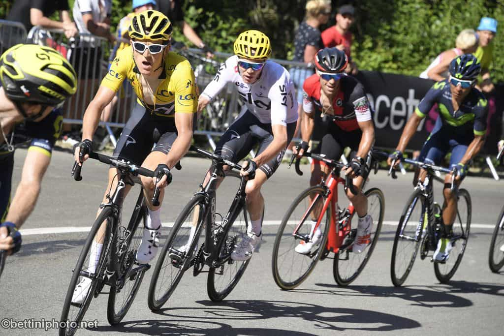 Road bike action richie porte and geraint thomas crash for Richie porte tour de france