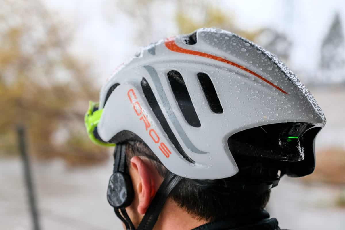 Tested Coros Smart Helmets Road Bike Action