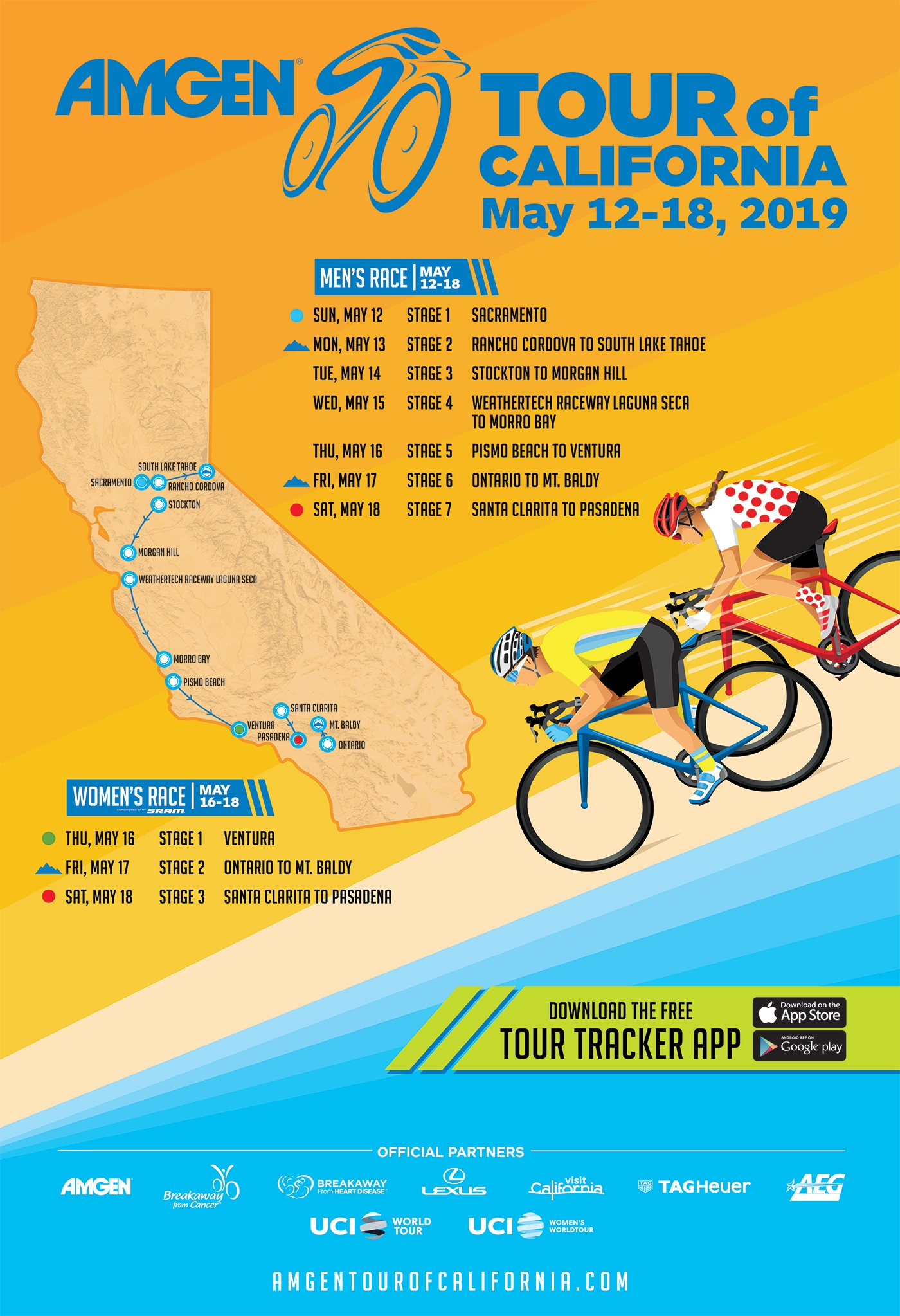 Amgen Tour 2019 2019 Amgen Tour of California Host Cities Announced | Road Bike Action