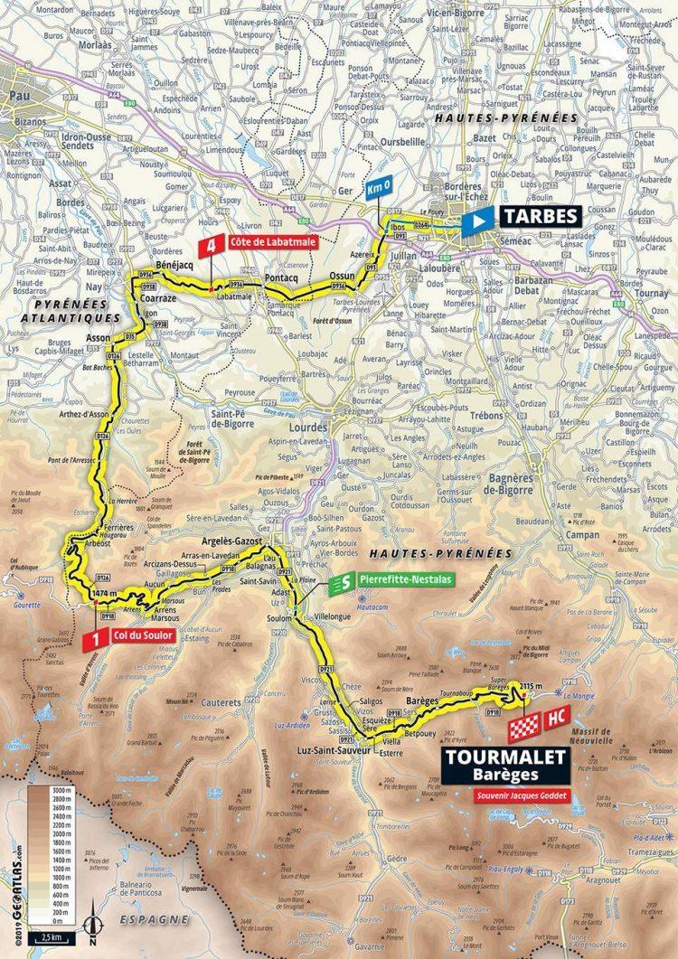 Tour de France >  TDF 2019, Stage 14: Tarbes > Tourmalet Barèges 20/07/2019 - 117,5 km