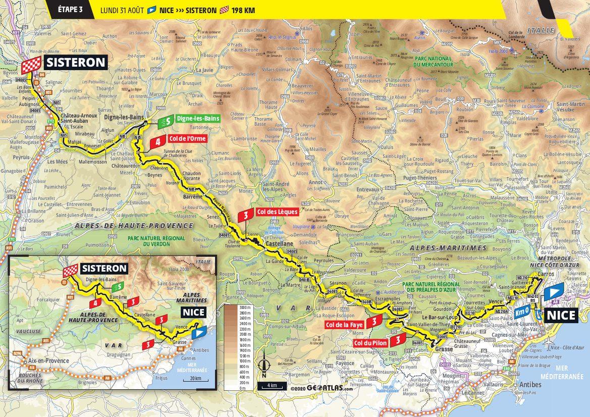2020 Tour De France Stage 3 Route Preview Road Bike Action