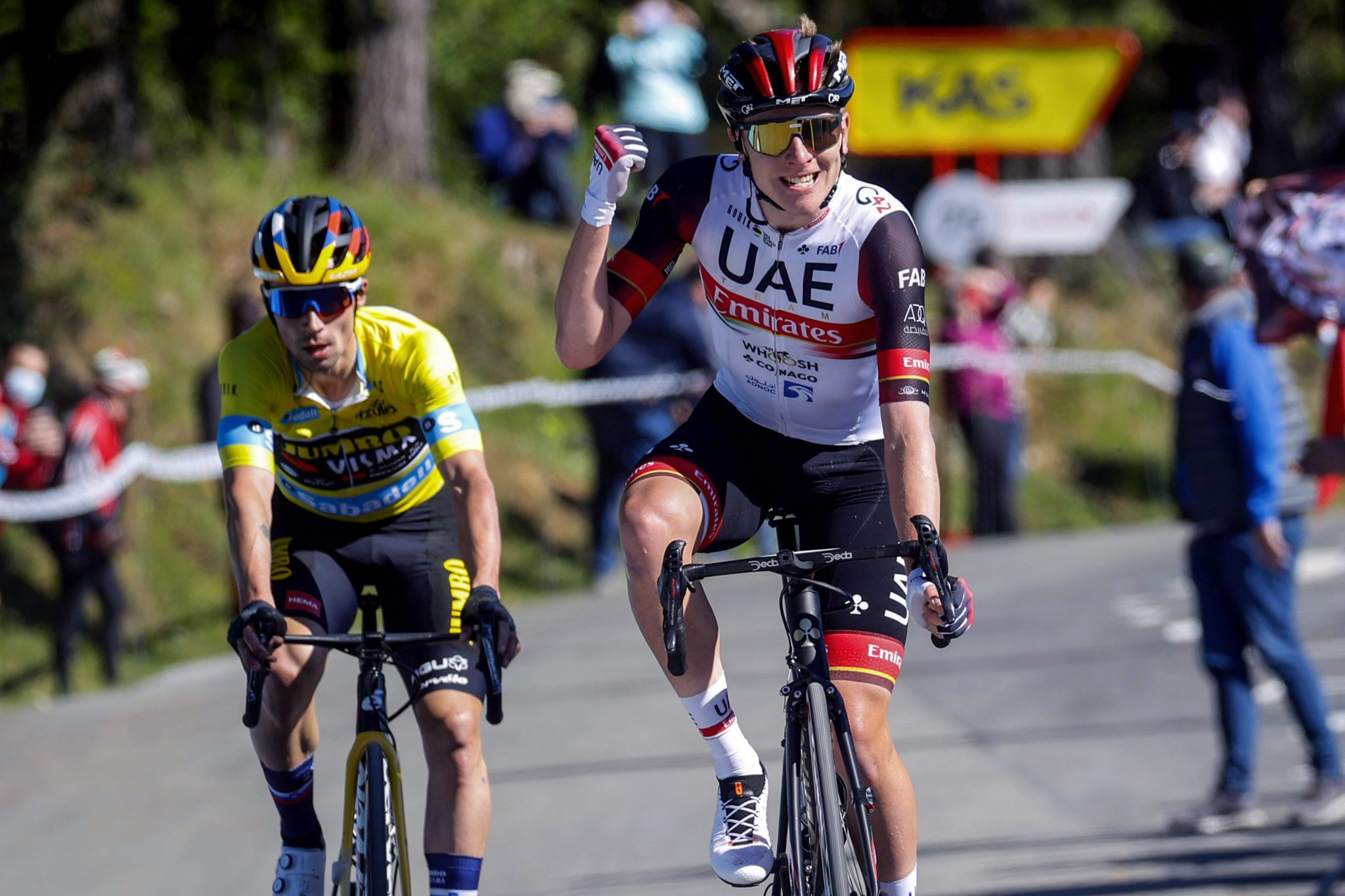 2021 ITZULIA BASQUE COUNTRY STAGE 3 RESULTS — POGACAR AND ROGLIC DUEL